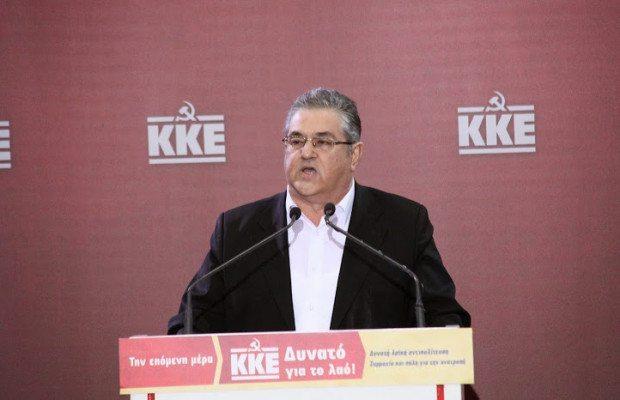 KKE:s generalsekreterare, Dimitris Koutsoumpas.