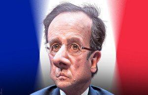 Frankrikes Francois Hollande deltog i marschen. Illustration: https://www.flickr.com/photos/donkeyhotey/