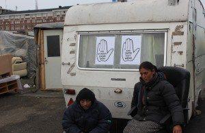 EU-migranter på Industrigatan. Foto: Victor Diaz De Filippi