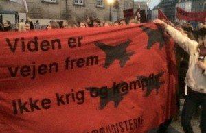 Ungkommunisterne, SKU:s broder/systerorganisation i Danmark, deltar i kampen för ordentliga förhållanden för alla elever och studenter.