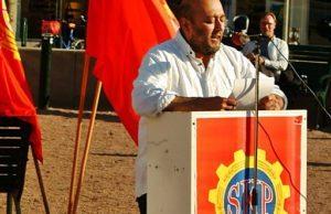 Sveriges Kommunistiska Partis partiordförande Victor Diaz De Filippi. Foto: JanneMatt/Riktpunkt