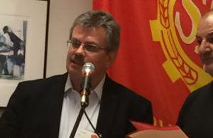 KKE:s internationella sekreterare Eliseos Vagenas.
