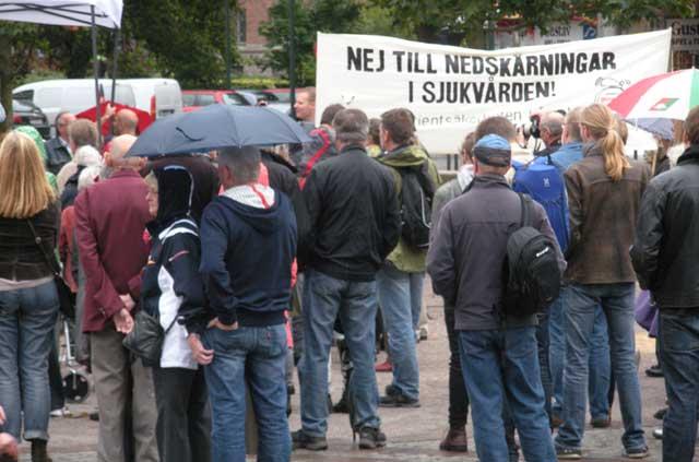 Arkivbild från Malmö: Protest mot nedskärningar inom sjukvården.