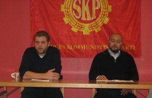 SKP:s partisekreterare Håkan Jönsson och partiordförande Victor Diaz De Filippi.
