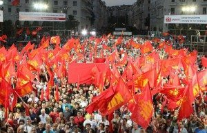 Greklands Kommunistiska Parti (KKE) i valspurten.