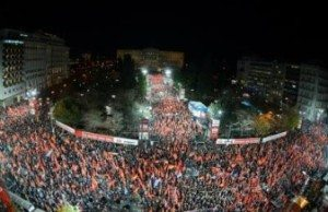 Greklands Kommunistiska Parti (KKE) den 22/1 2015.