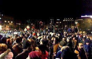 Uppemot 5 000 personer samlades mot Pegidas manifestation i Malmö. Foto: JanneMatt