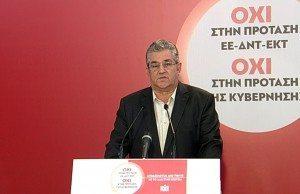 Dimitris Koutsoumpas, generalsekreterare för KKE:s centralkommitté.
