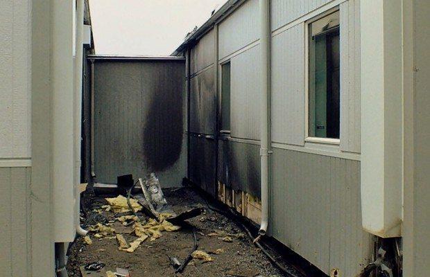 Attentat mot flyktingboende i Arlöv. Arkivbild.