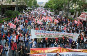 PAME:s strejkdemonstration i Aten.