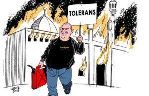 Illustration: Latuff – redigerad av Riktpunkts redaktion