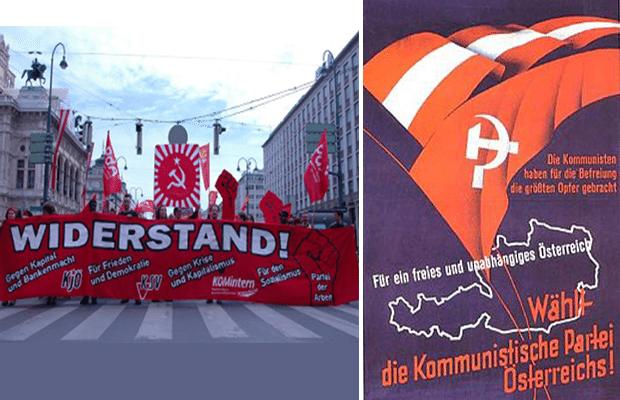 Till vänster från 1 maj i Wien – PdAs block.