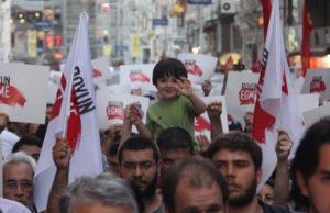 Protester mot turkiska regeringen. Arkivbild
