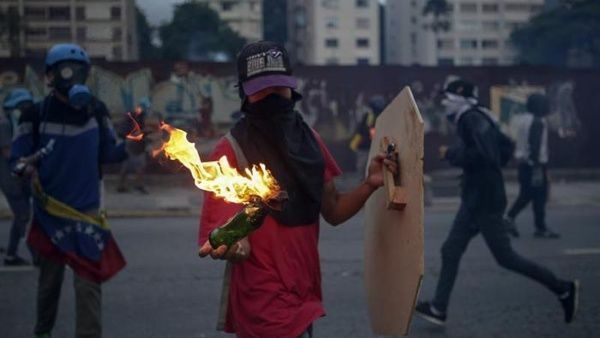 En del av oppositionen före valet. Foto: EFE
