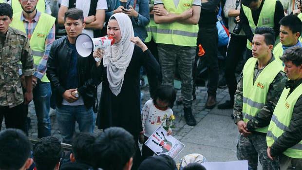 Arkivbild från 2017. Flyktingdemonstration på Medborgarplatsen. Foto: Ung i Sverige