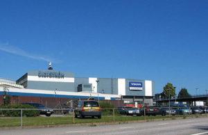 Volvos fabrik i Olofström. Foto: Bulver [CC0], från Wikimedia Commons
