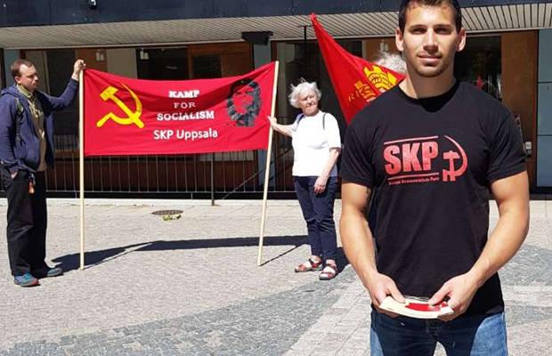 Läraren Henrik Gustavsson är första namn på SKP:s kommunvalslista i Uppsala.