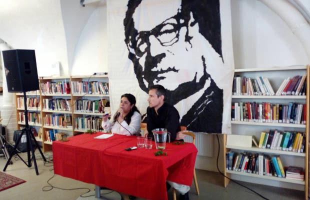 Pablo S. Allende på Solidaritetshuset i Stockholm.