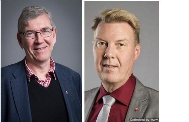 S-politikerna Tommy Levinsson och Bertil Kinnunen. Bild: Region Västmanland, Region Uppsala