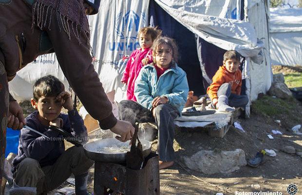 Januari 2018: Flyktinglägret Moria i Grekland. Foto: Fotomovimiento/Flickr (CC BY-NC-ND 2.0)