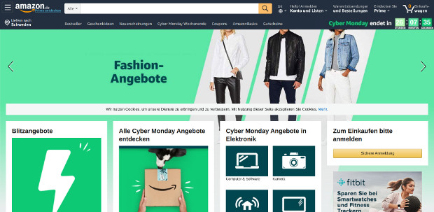 Skärmdump/amazon.de
