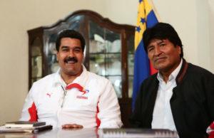 Nicolás Maduro och Evo Morales. Foto: Prensa Miraflores/Flickr (CC BY-NC-SA 2.0)