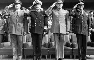 Medlemmar av Chiles militärjunta på 1970-talet. Foto: Biblioteca del Congreso Nacional (CC BY 3.0 CL)