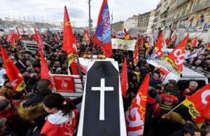 5 december 2019: Bilder från protesterna i Frankrike.