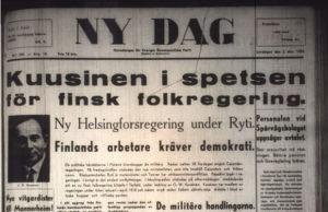 Illustrationsbild: Tidningen Ny Dag var SKP:s huvudorgan 1949. (En förstasida från ett tidigare år.)
