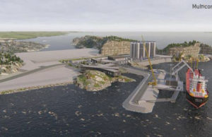 Så är det tänkt att omlastningsstationen och mellanlagret för koldioxid ska se ut i ett norskt koldioxidhotell. Foto: Multiconsult
