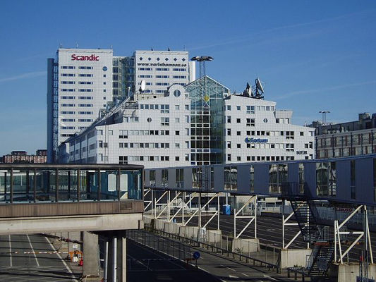 Scandic Hotel Ariadne vid Värtahamnen. Foto: Udo Schröter/Wikimedia Commons (CC BY-NC-SA)