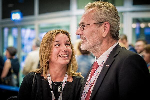 Arkivbild. Socialdemokraten Anna-Caren Sätherberg och Anders Ferbe. Foto: Anders Löwdin/Socialdemokraterna/Flickr