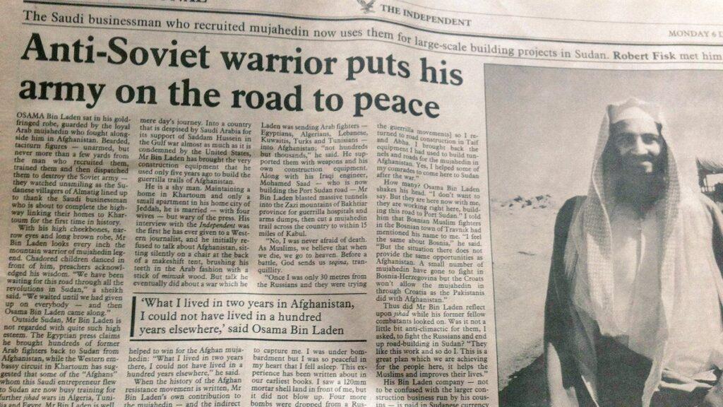 "När Bin Laden var en ""antisovjetisk krigare"", 1993."